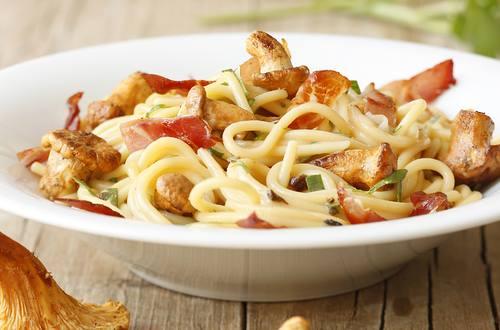 Spaghetti_mit_Rohschinken_und_Pilzen
