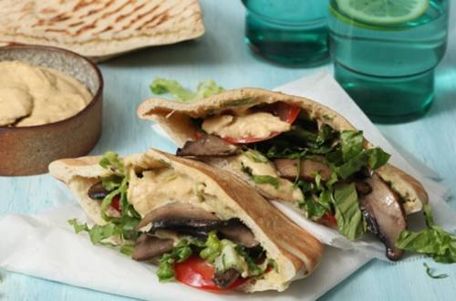 Grilled Portobellos with Hummus
