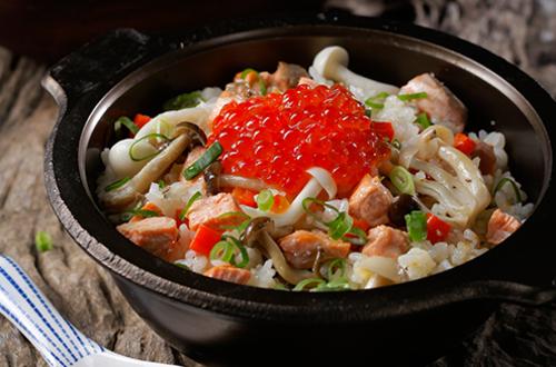 鮭魚親子炊飯