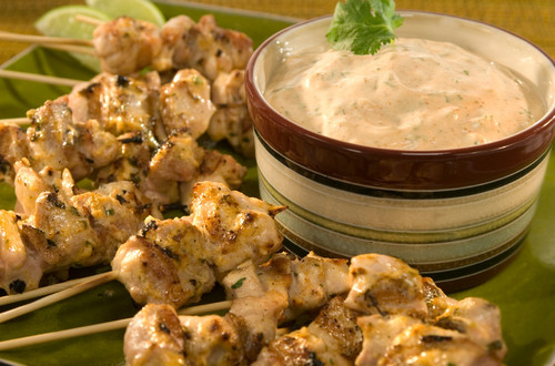 Brochetas De Pollo Al Chipotle Y Limon