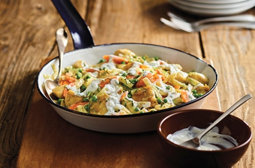 Chicken and Minted Herb Pasta with Yogurt Sauce