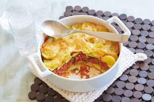 Bolognese-Kartoffel-Gratin
