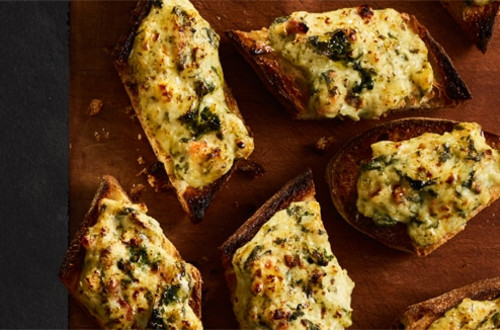 Creamy Spinach Bread Appetizers