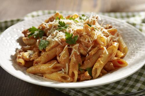 chicken and mushroom penne pasta