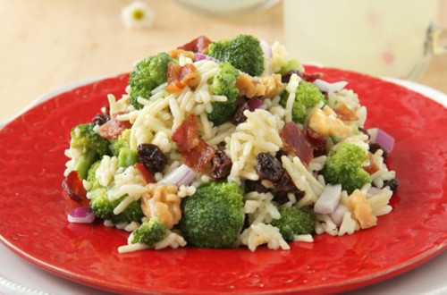 Chilled Summer Broccoli Rice Salad