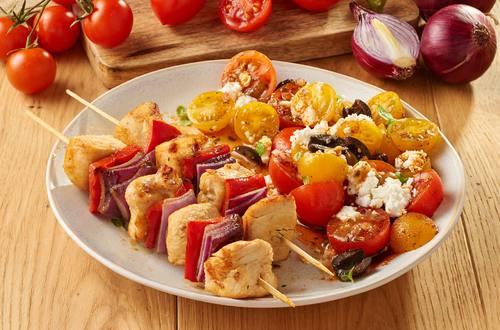 Knorr - Hähnchen Spieße mit Tomatensalat