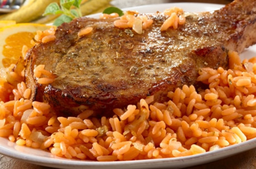 Caribbean-Style Pork Chops and Rice