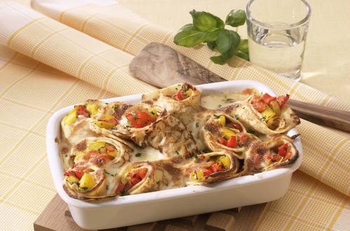 Knorr - Gratinierte Paprika-Crespelle