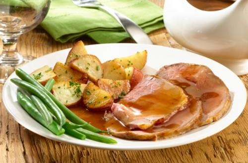 Classic Roast Beef with Brown Gravy