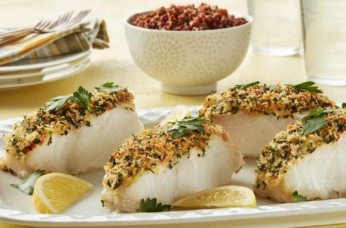 Lemon Crusted Cod