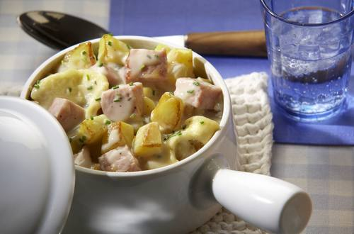 Kartoffeltopf mit Kasseler