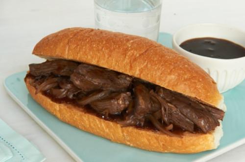 Skirt Steak French Dip Sandwiches