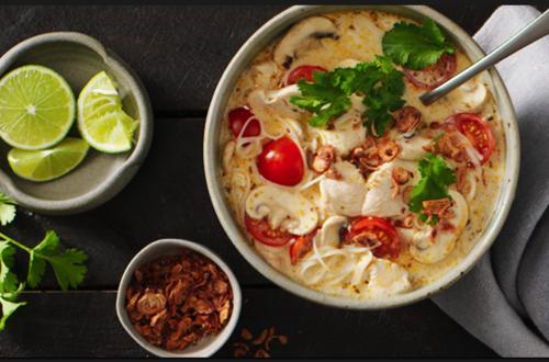 Fragrant Coconut Chicken Soup