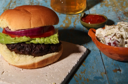 Homestyle Stock Burgers