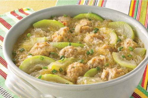 Almondigas with Upo in Sotanghon Recipe
