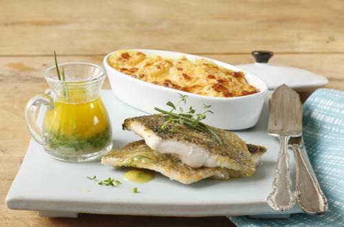 Knorr - Forellenfilet mit Kartoffel-Zucchinigratin