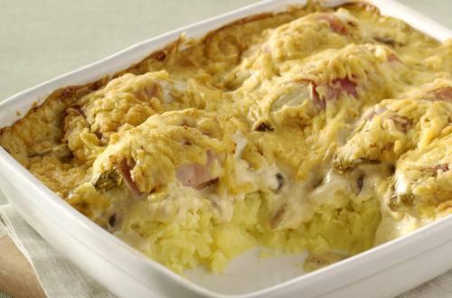 Chicons au gratin avec purée de pommes de terre