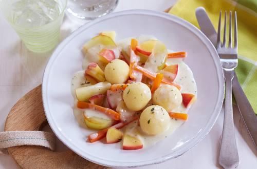 Apfel-Möhren-Kohlrabi-Pfanne