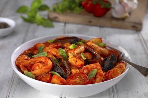 seafood ragu with gnocchi