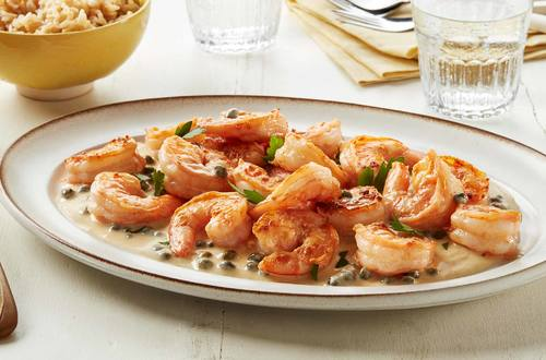 Creamy Shrimp with Capers