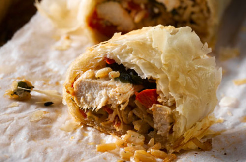 Chicken and Country Mushroom Strudel