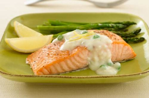 Baked Salmon Alfredo with Shallots