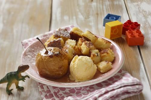 Knorr - Grießschmarrn mit Bratapfel und Vanilleeis