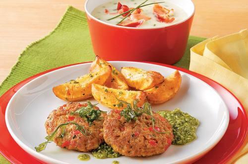 Knorr - Italienische faschierte Laibchen mit Rucola-Pesto