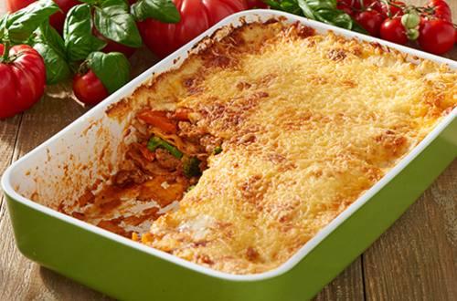 Lasagne met gehakt en Italiaanse groenten