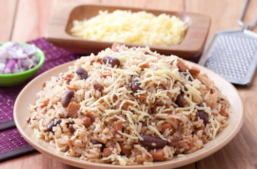 Chili Rice with Sausage Bits Recipe