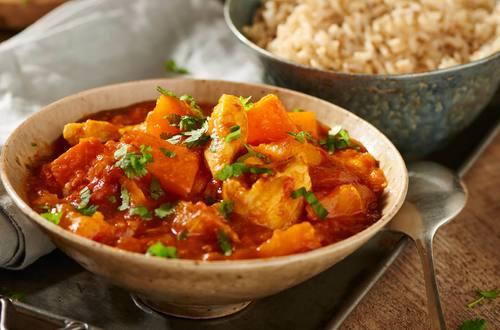 Curry mit Hähnchen und Kürbis
