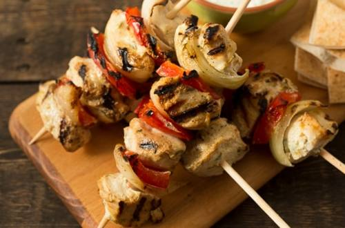 Grilled Souvlaki Chicken Skewers