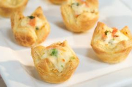 Vegetable & Cheese Pastry Puffs