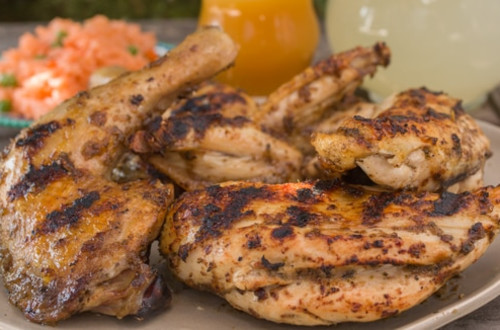 Grilled Chicken Quarters