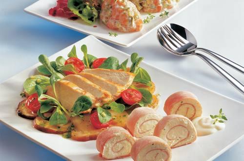 Knorr - Steinpilz-Vogerlsalat mit gebratener Hühnerbrust