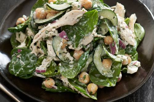 Chicken & Chick Pea Salad