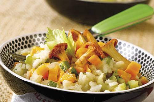 Risotto aux légumes et champignons