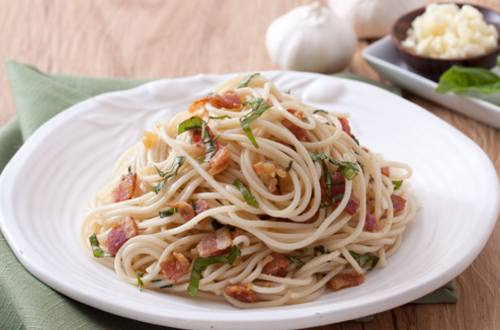 Bacon and Garlic Pasta Recipe