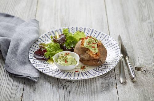 Sweetpotatoes mit Avocadocreme