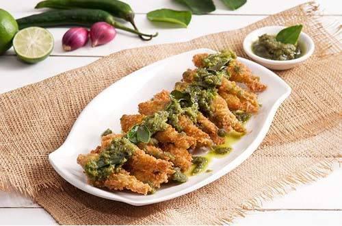 Ikan balita sambal hijau