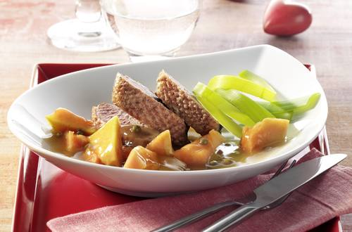 Knorr - Entenbrustfilets mit Papayawürfeln