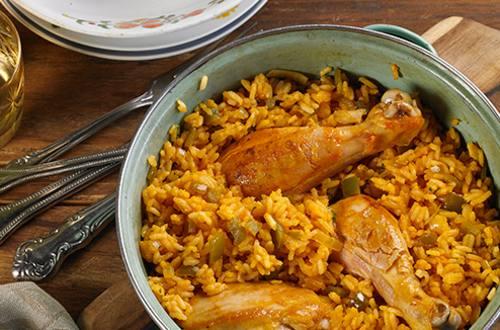 Arroz Casero con Pollo y Jamón