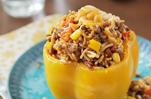 Spanish Rice Stuffed Bell Peppers