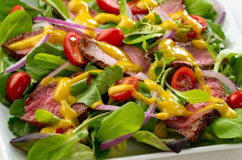 Mango Chimichurri Steak Salad