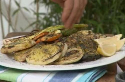 Vegetales grillados al limón
