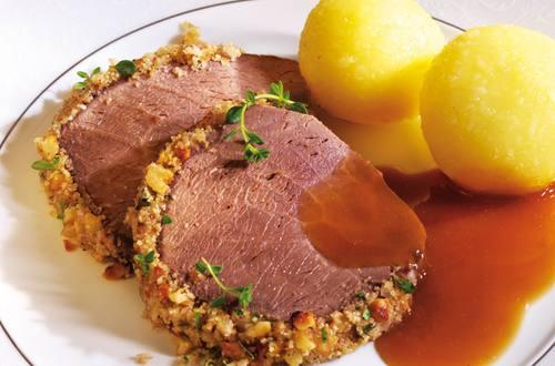 Knorr - Rinderbraten mit Nusskruste