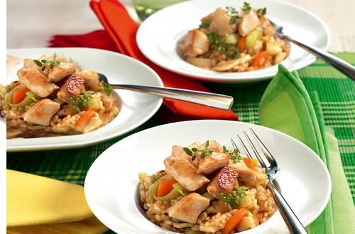 Risotto de poulet du Tessin