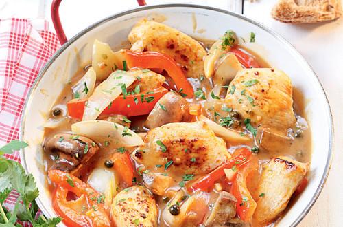 Pikantes Hühnergeschnetzeltes mit Pfeffer Sauce