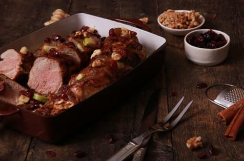 Roasted Pork Tenderloin with Apple Chutney