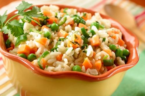 Arroz con Verduras y Caldo de Pollo Knorr